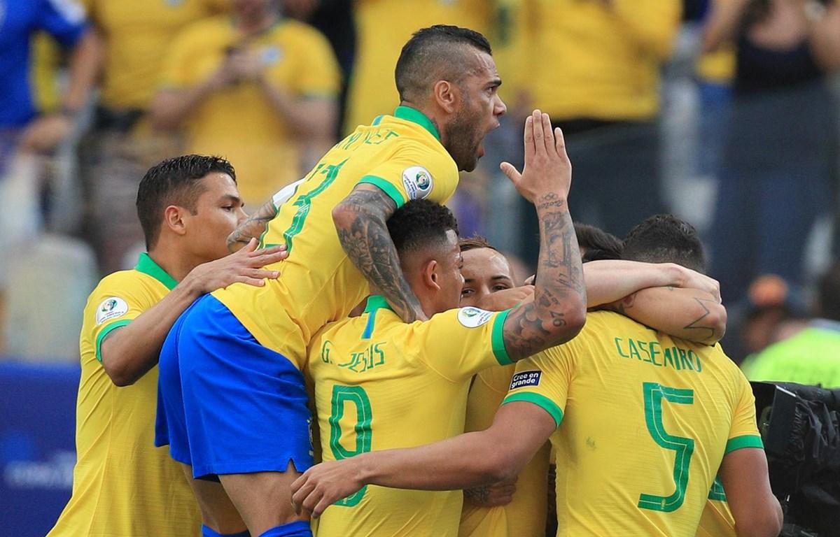 Brazil giành vé vào tứ kết Copa America 2019. (Nguồn: Getty Images)