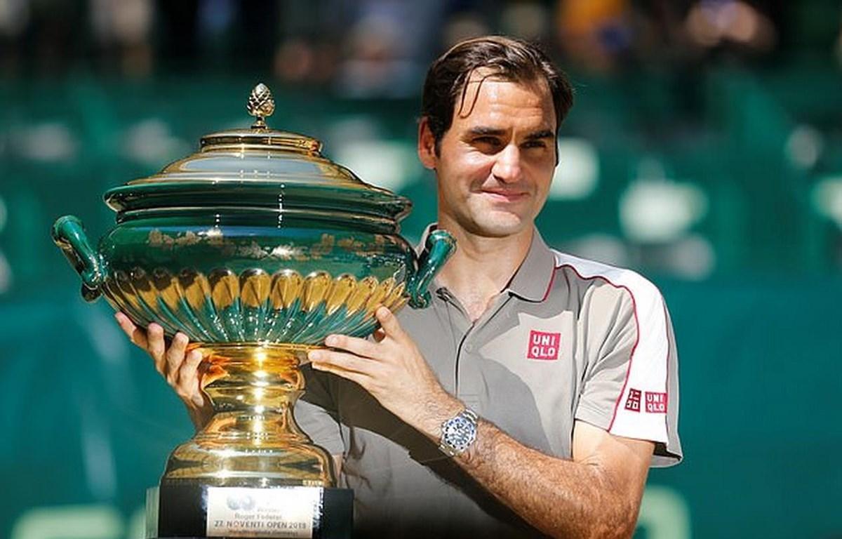 Federer giành chức vô địch tại Halle Open thứ 10 trong sự nghiệp. (Nguồn: Reuters)