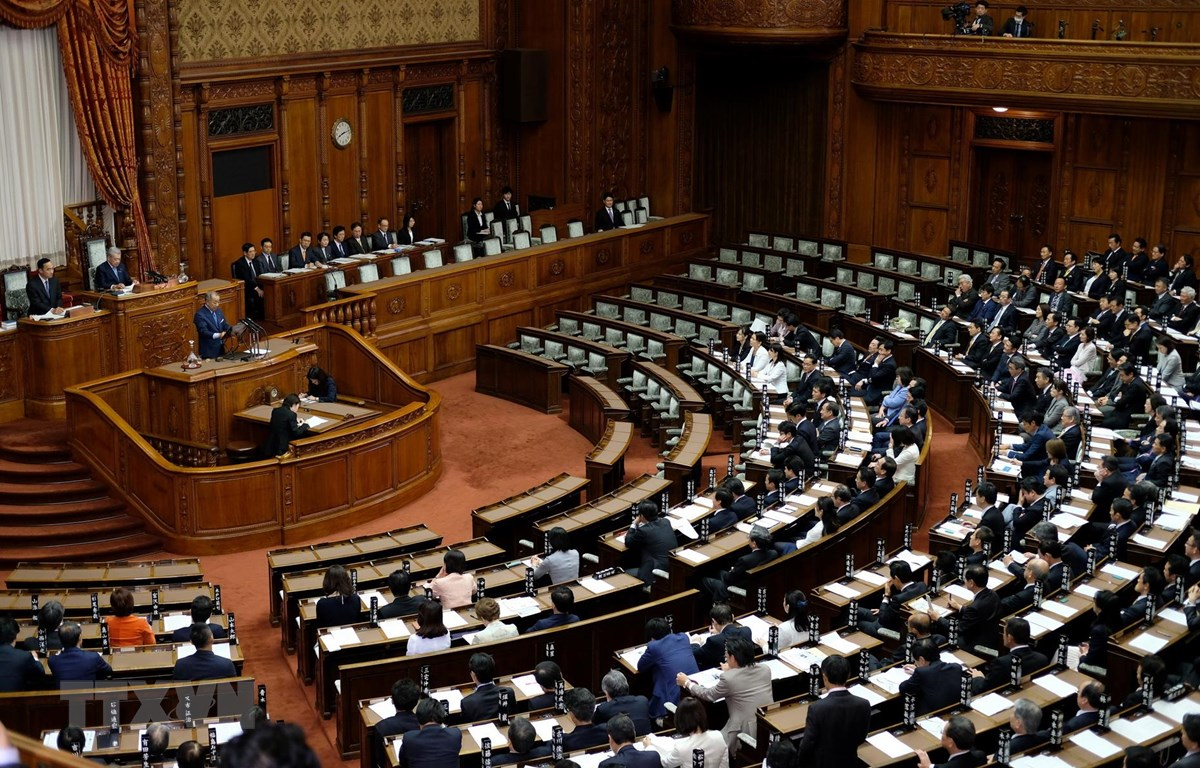 Toàn cảnh một cuộc họp Thượng viện Nhật Bản ở Tokyo. (Ảnh: AFP/ TTXVN)