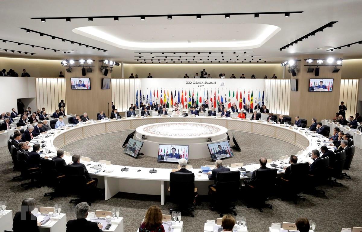 Các nhà lãnh đạo G20 đã có cuộc họp đặc biệt đầu tiên khẳng định tầm quan trọng của kinh tế số. (Ảnh: TTXVN phát)