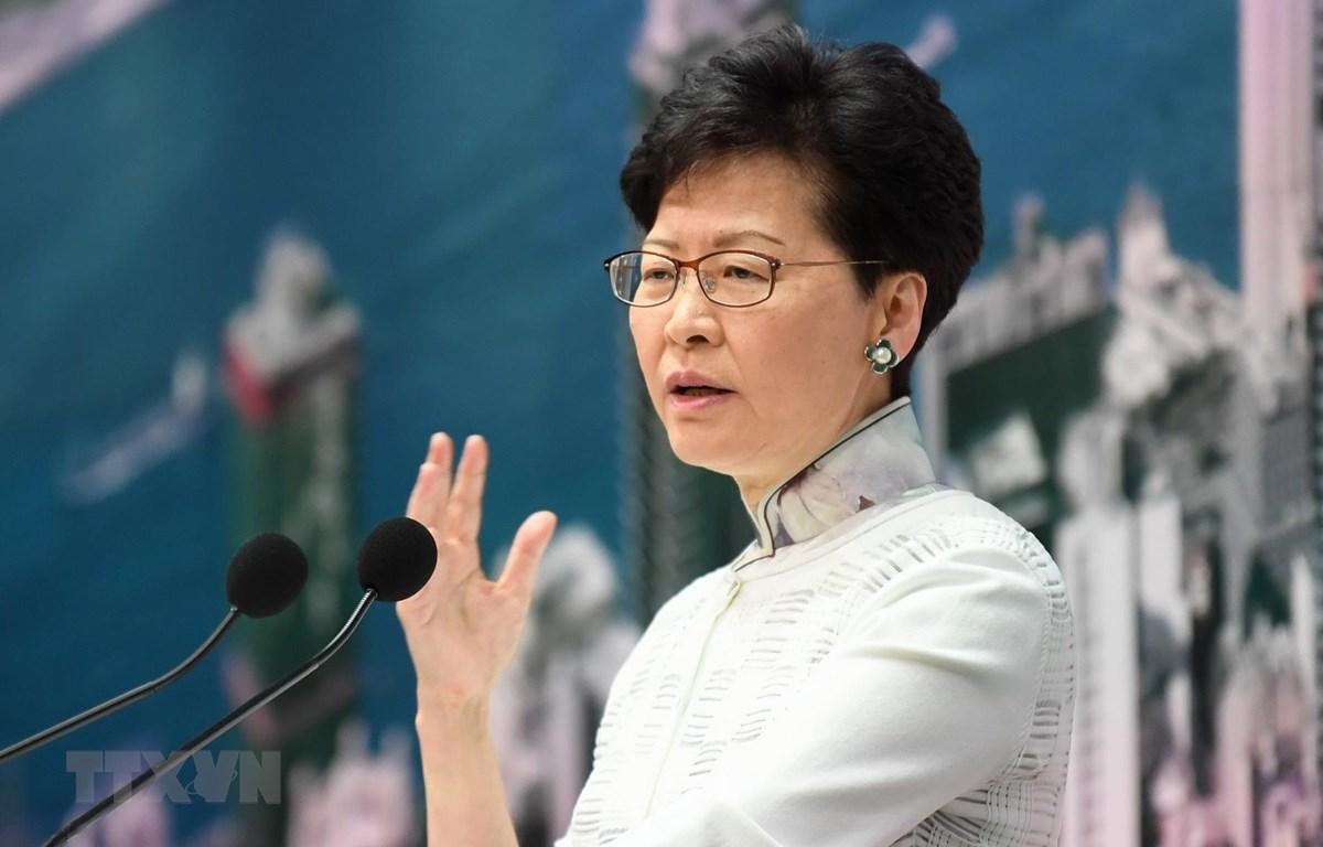 Người đứng đầu Đặc khu Hành chính Hong Kong (Trung Quốc) Lâm Trịnh Nguyệt Nga. (Ảnh: AFP/TTXVN)