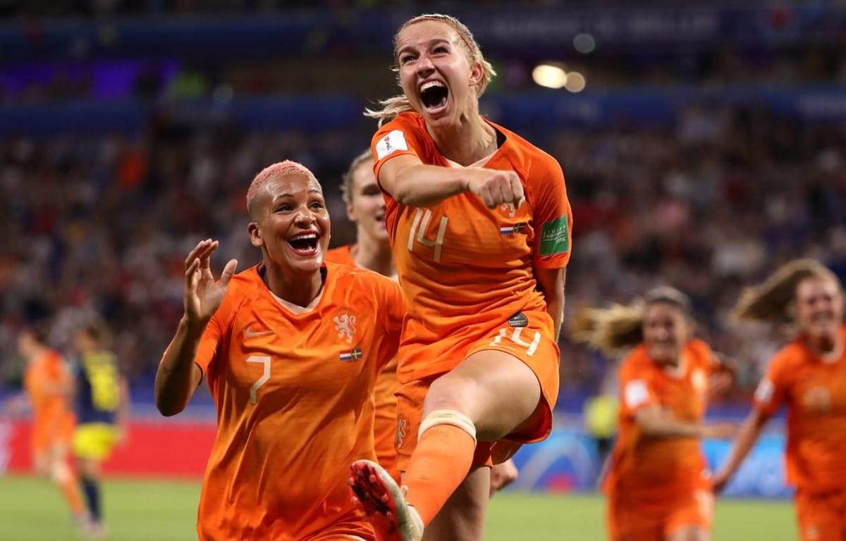 Jackie Groenen (số 14) mang chiến thắng về cho Hà Lan. (Nguồn: Getty Images)