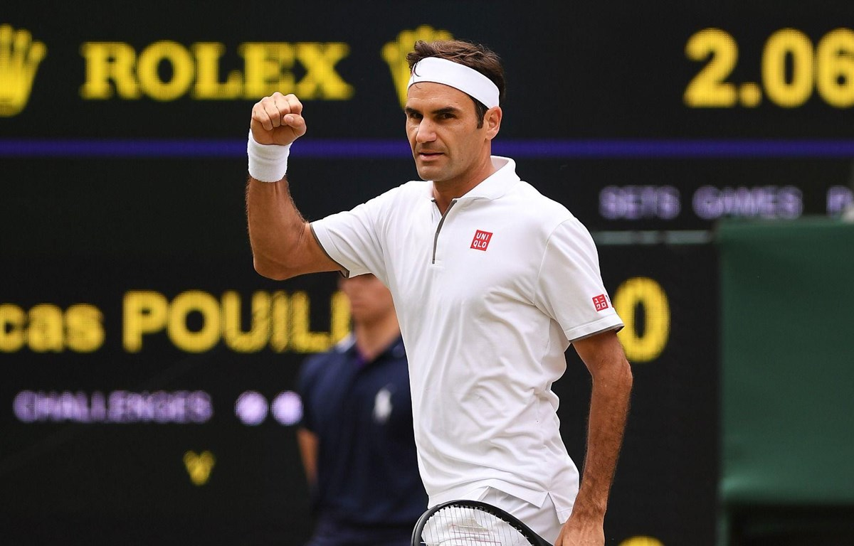 Federer lần thứ 17 vào vòng 4 Wimbledon.