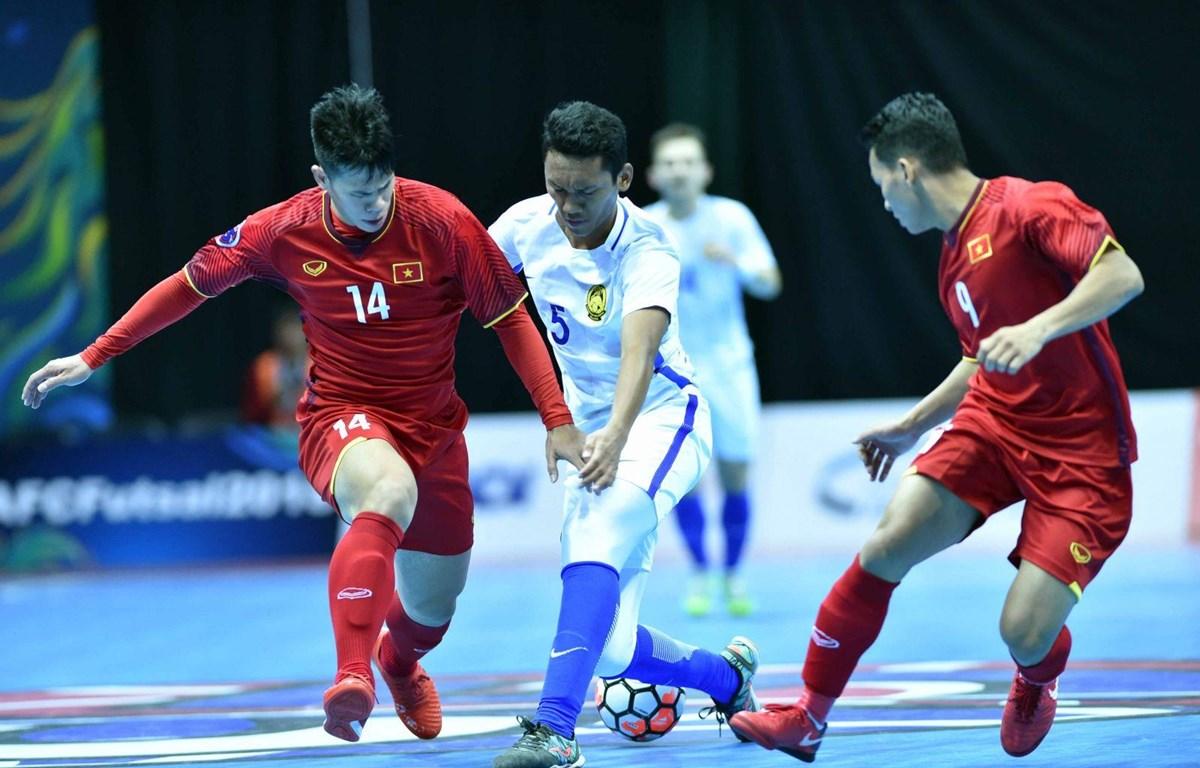 Tuyển Futsal Việt Nam sẽ đối đầu với Malaysia tại vòng bảng. (Nguồn: VFF)