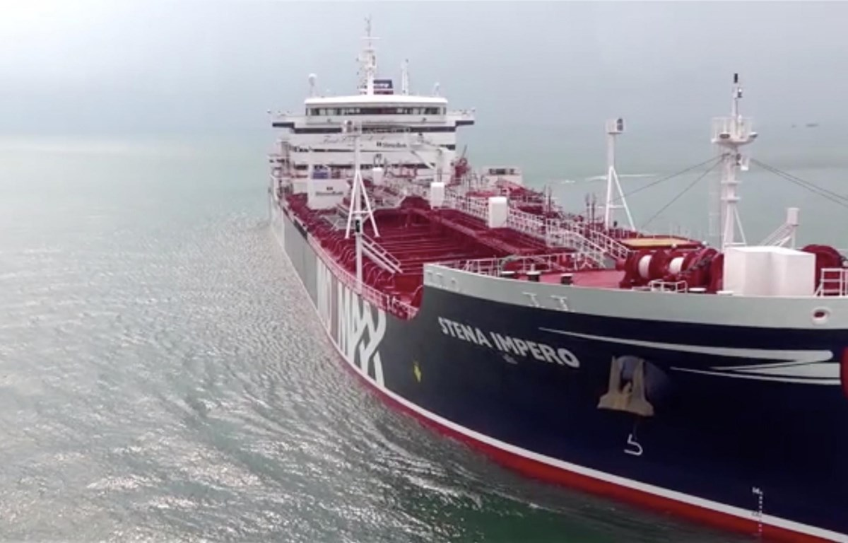 Tàu chở dầu Stena Impero. (Nguồn: Newsweek)
