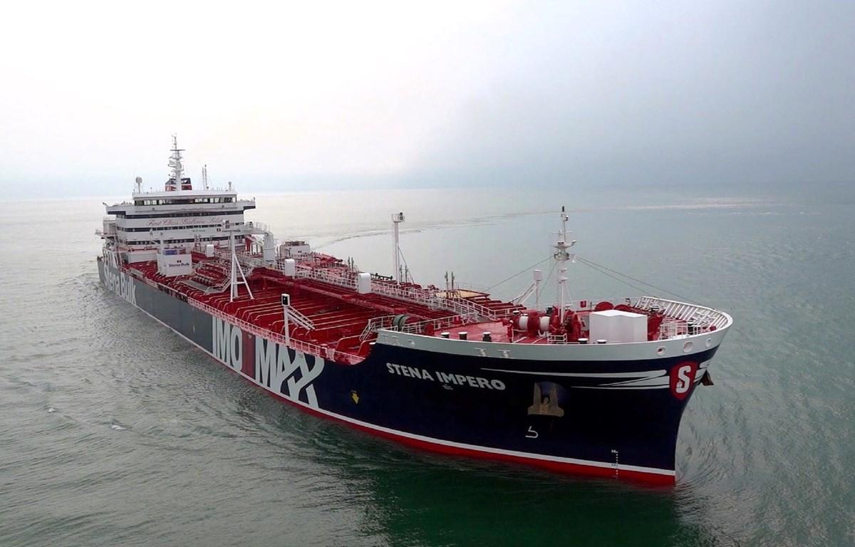 """Tàu chở dầu """"Stena Impero"""" của Thụy Điển. (Nguồn: Guardian)"""