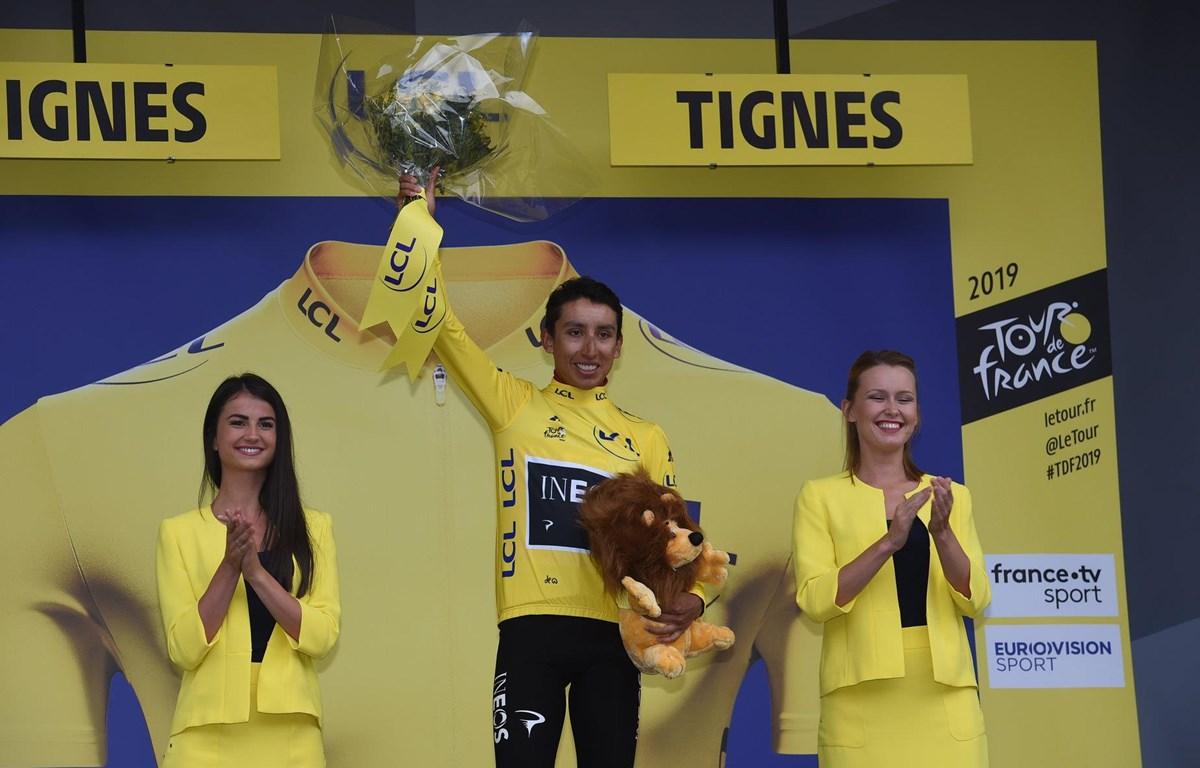 Tay đua người Colombia Egan Bernal. (Nguồn: AP)