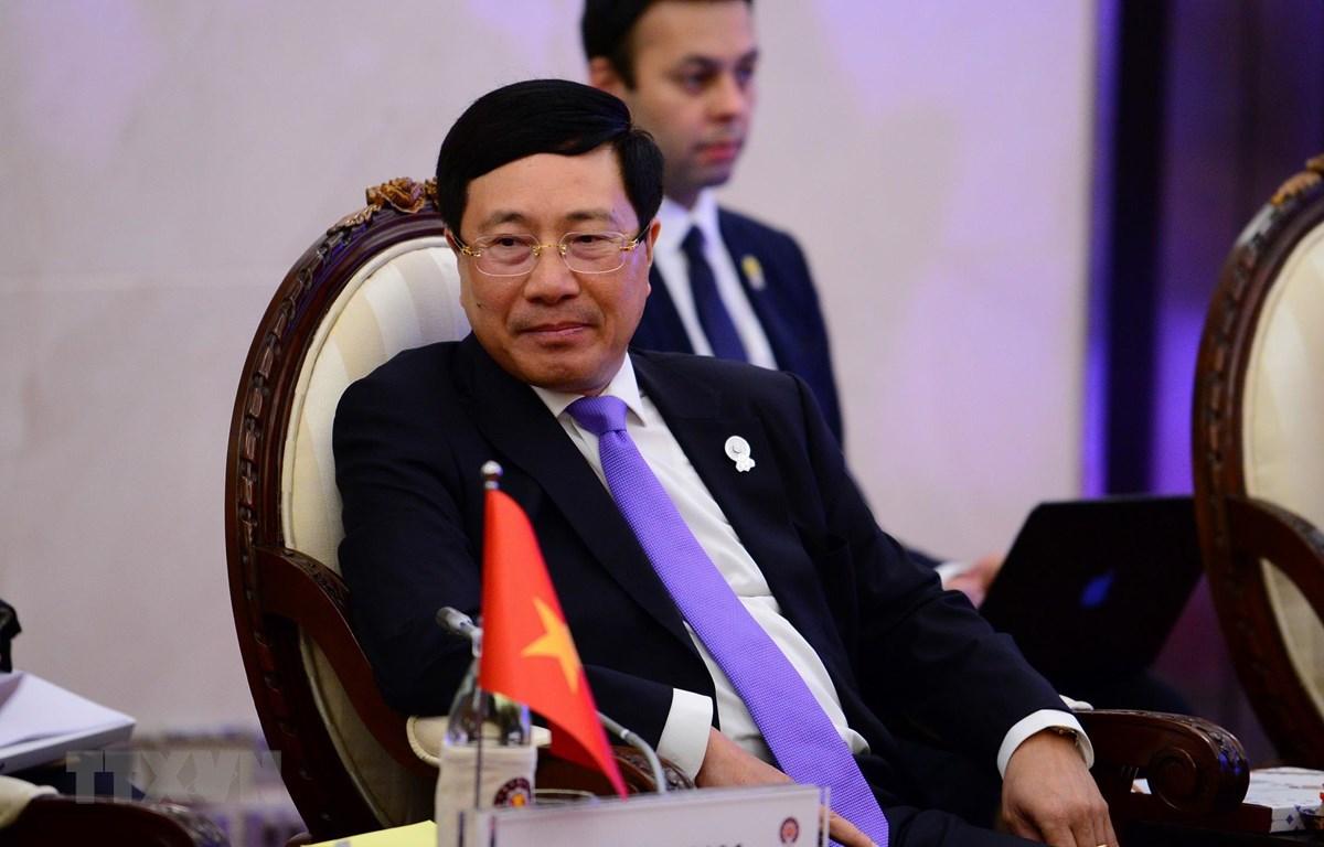 Phó Thủ tướng, Bộ trưởng Ngoại giao Phạm Bình Minh. (Ảnh: Pv TTXVN tại Thái Lan)
