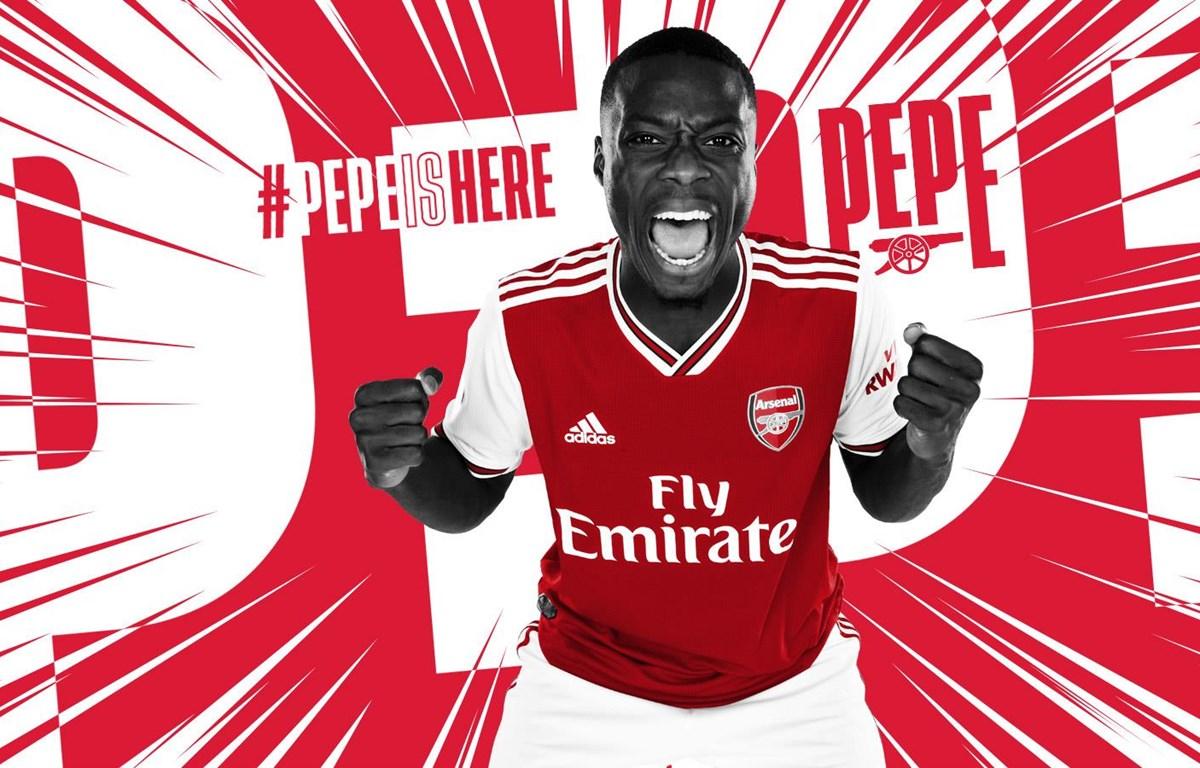 Nicolas Pepe đầu quân cho Arsenal. (Nguồn: Arsenal.com)
