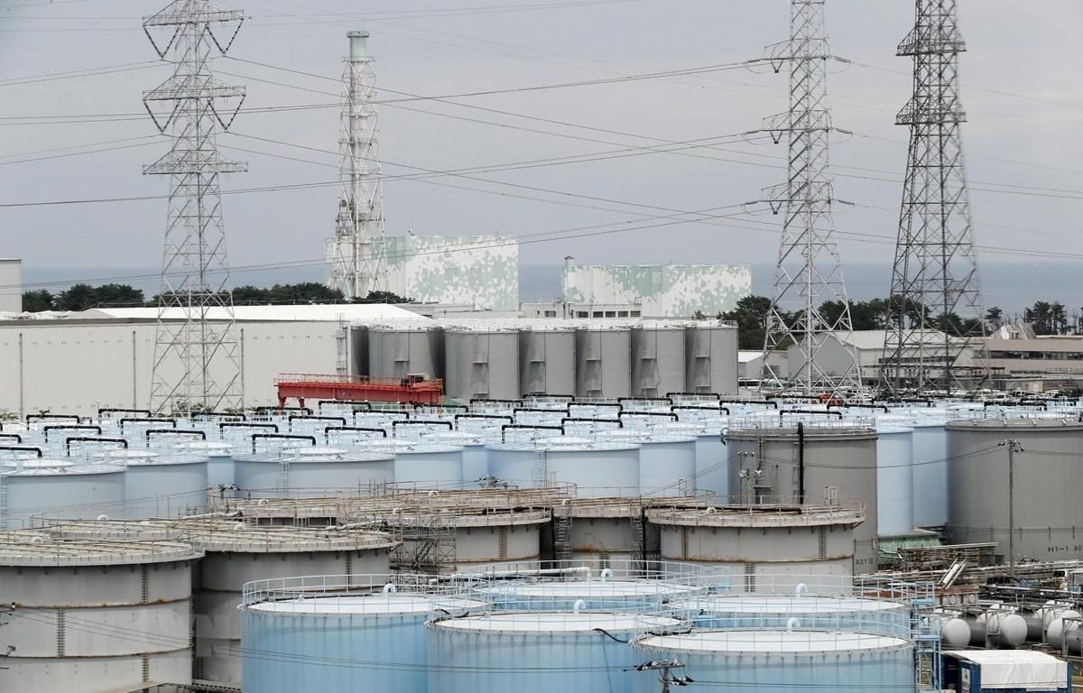 Lò phản ứng số 5 và 6 của nhà máy điện hạt nhân Fukushima ở Okuma, Fukushima, Nhật Bản. (Ảnh: AFP/TTXVN)