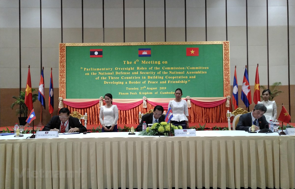 Quang cảnh lễ ký kết biên bản hội nghị. (Ảnh: Minh Hưng/Vietnam+)