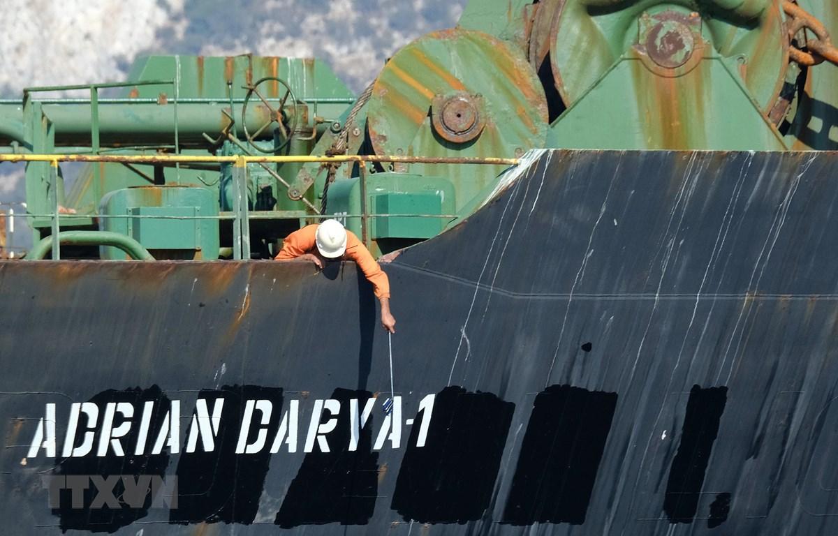 Tàu chở dầu Adrian Darya của Iran. (Ảnh: AFP/TTXVN)