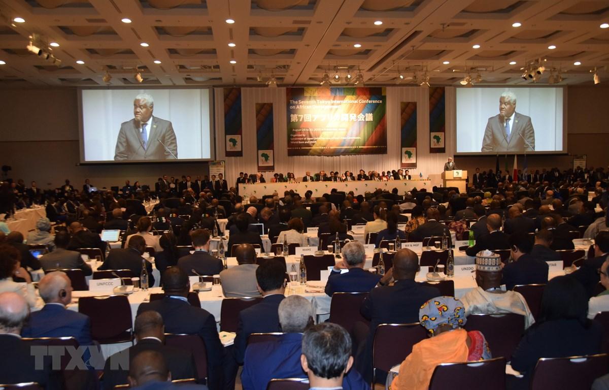 Toàn cảnh Hội nghị Quốc tế Tokyo về Phát triển châu Phi (TICAD) lần thứ 7 ở Yokohama. (Ảnh: Đào Tùng/TTXVN)