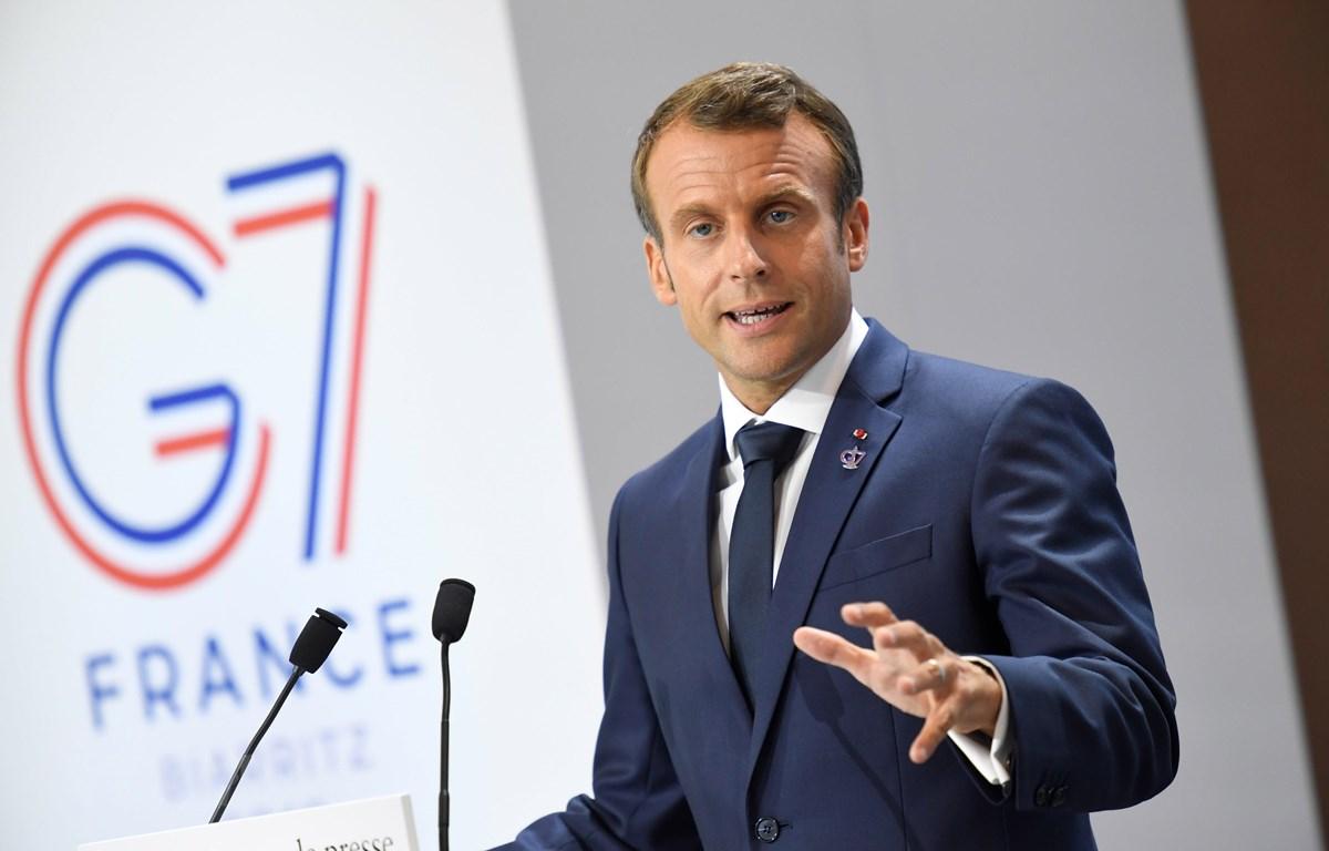 Tổng thống Pháp Macron đã có cuộc điện đàm với người đồng cấp Iran. (Ảnh: AFP/TTXVN)