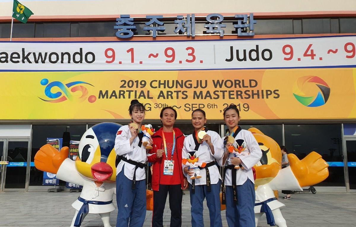 Taekwondo Việt Nam giành huy chương vàng đầu tiên. (Ảnh: Hữu Tuyên/Vietnam+)