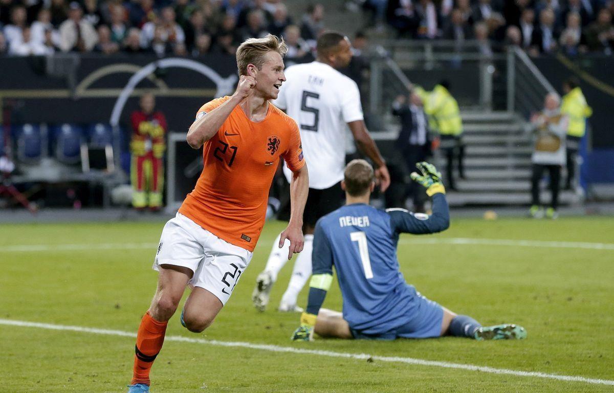 Frenkie de Jong mở đầu cho màn ngược dòng của Hà Lan trên đất Đức. (Nguồn: Getty Images)