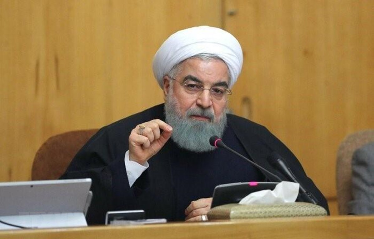 Tổng thống Iran Hassan Rouhani phát biểu tại Tehran. (Ảnh: IRNA/TTXVN)