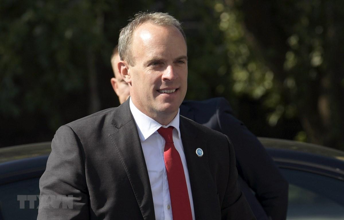 Ngoại trưởng Anh Dominic Raab. (Ảnh: AFP/TTXVN)
