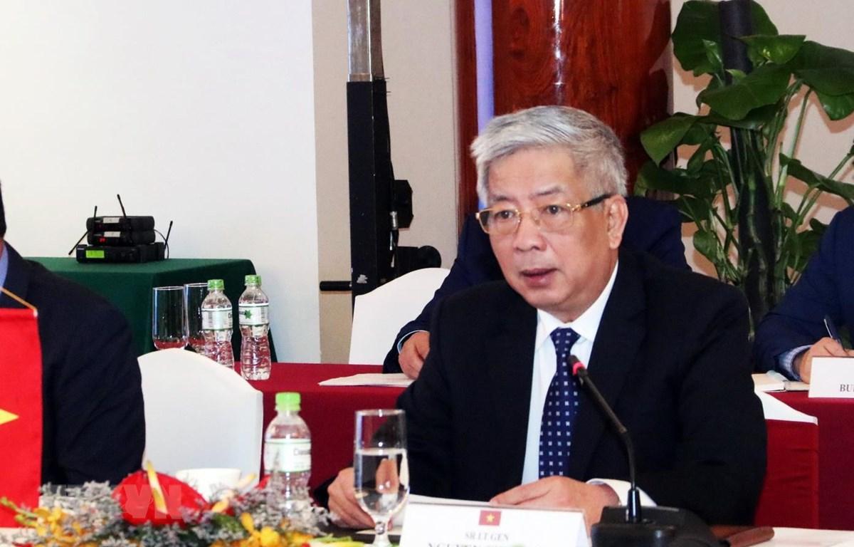 Thượng tướng Nguyễn Chí Vịnh, Thứ trưởng Bộ Quốc phòng đồng chủ trì Đối thoại Chính sách Quốc phòng Việt Nam-Thái Lan lần thứ 3. (Ảnh: Xuân Khu/TTXVN)