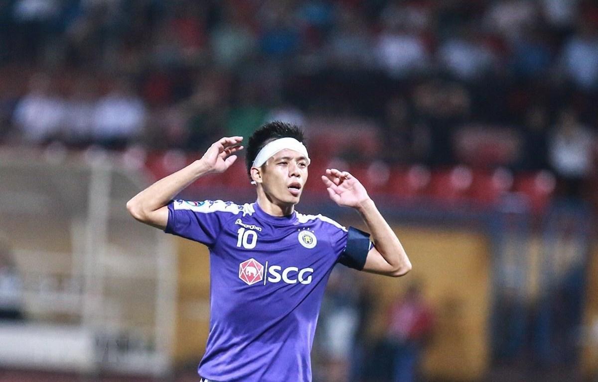 Văn Quyết bị cấm thi đấu hai trận còn lại ở V-League 2019. (Ảnh: Trọng Đạt/TTXVN)