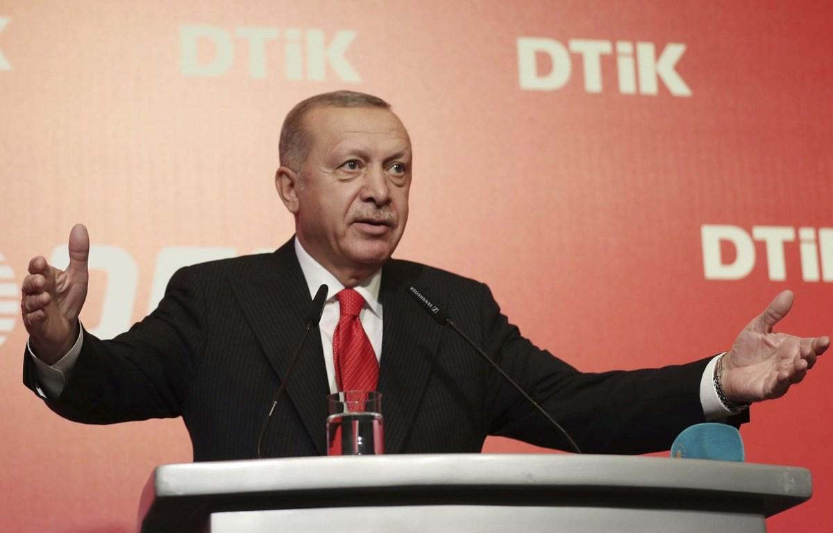 Tổng thống Thổ Nhĩ Kỳ Recep Tayyip Erdogan. (Nguồn: AP)