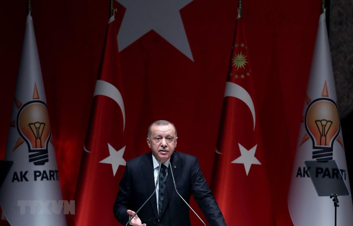 Tổng thống Thổ Nhĩ Kỳ Tayyip Erdogan. (Ảnh: AFP/TTXVN)