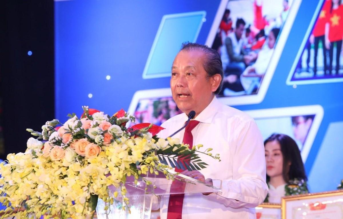 Phó Thủ tướng Thường trực Chính phủ Trương Hòa Bình phát biểu. (Ảnh: Văn Điệp/TTXVN)