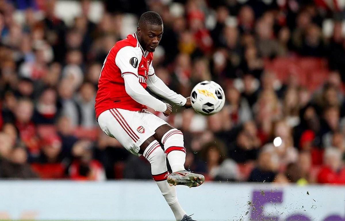 Nicolas Pepe lập cú đúp giúp Arsenal giành chiến thắng.
