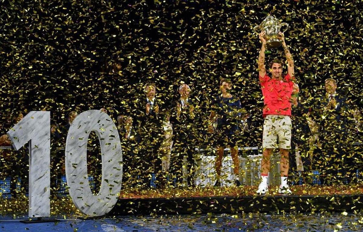 Federer lần thứ 10 vô địch Basel Open. (Nguồn: AFP)
