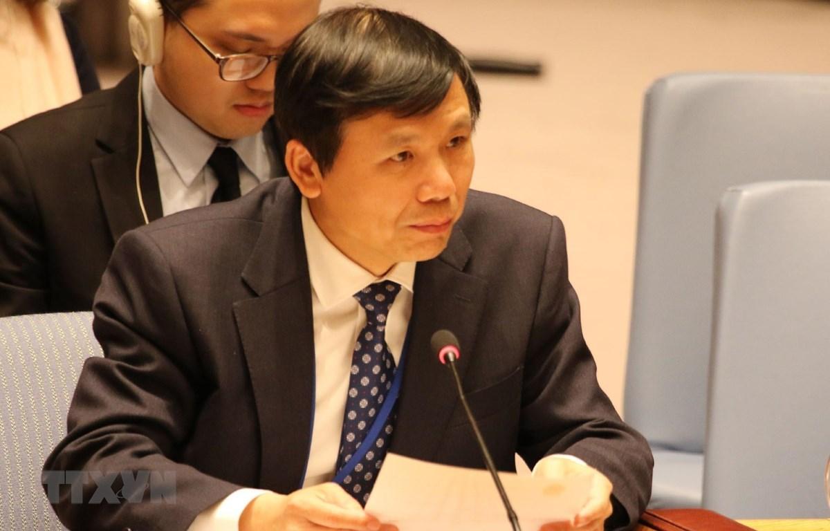 Đại sứ Đặng Đình Quý, Trưởng Phái đoàn đại diện thường trực Việt Nam tại Liên hợp quốc. (Ảnh: Hữu Thanh/TTXVN)