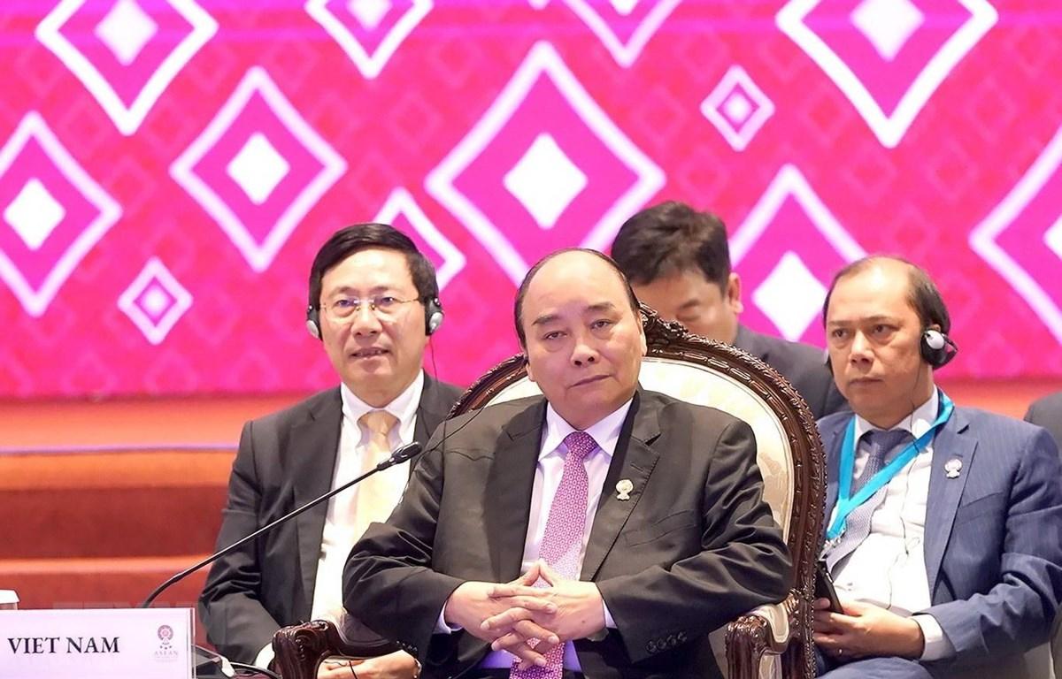 Thủ tướng Nguyễn Xuân Phúc dự Hội nghị Cấp cao Đông Á lần thứ 14. (Ảnh: Thống Nhất/TTXVN)