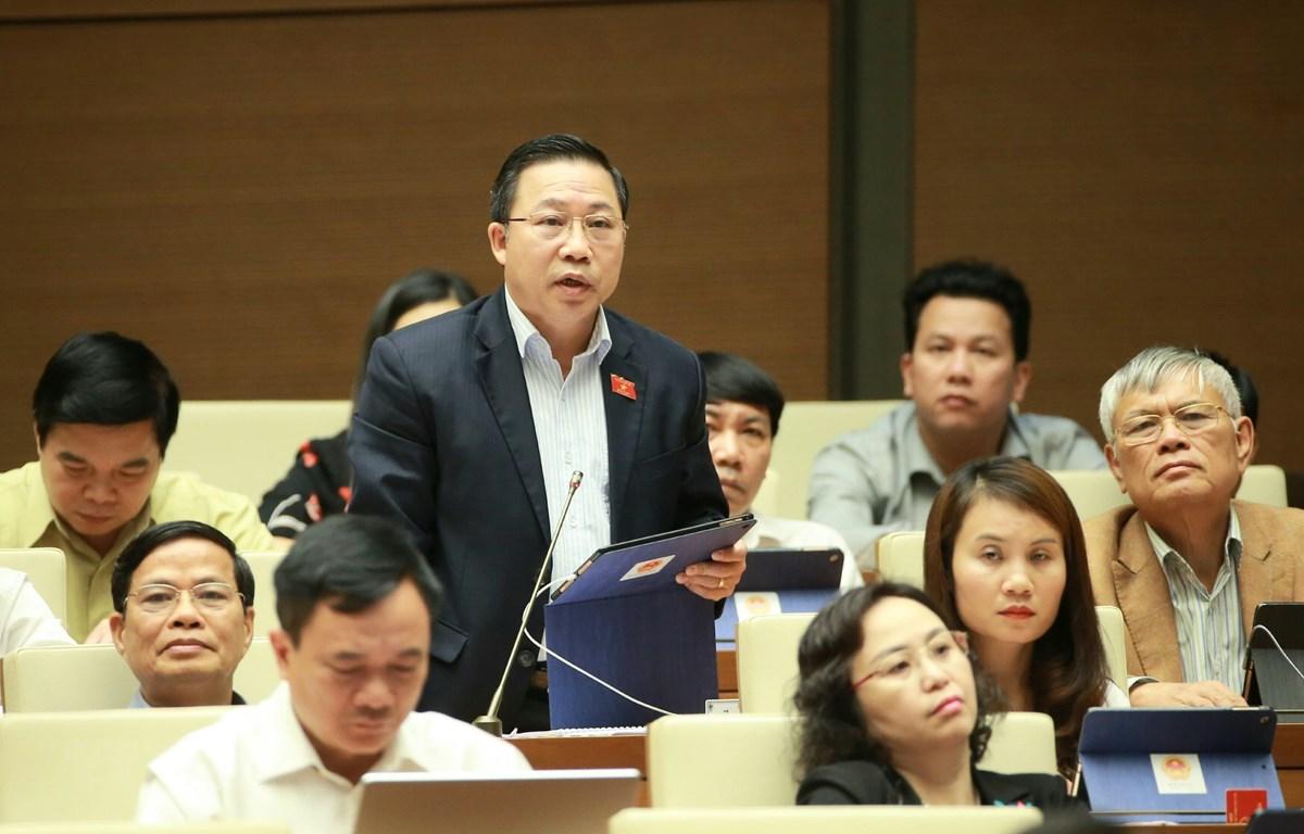 Trong ảnh: Đại biểu Quốc hội tỉnh Bến Tre Lưu Bình Nhưỡng phát biểu ý kiến. (Ảnh: Doãn Tấn/TTXVN)