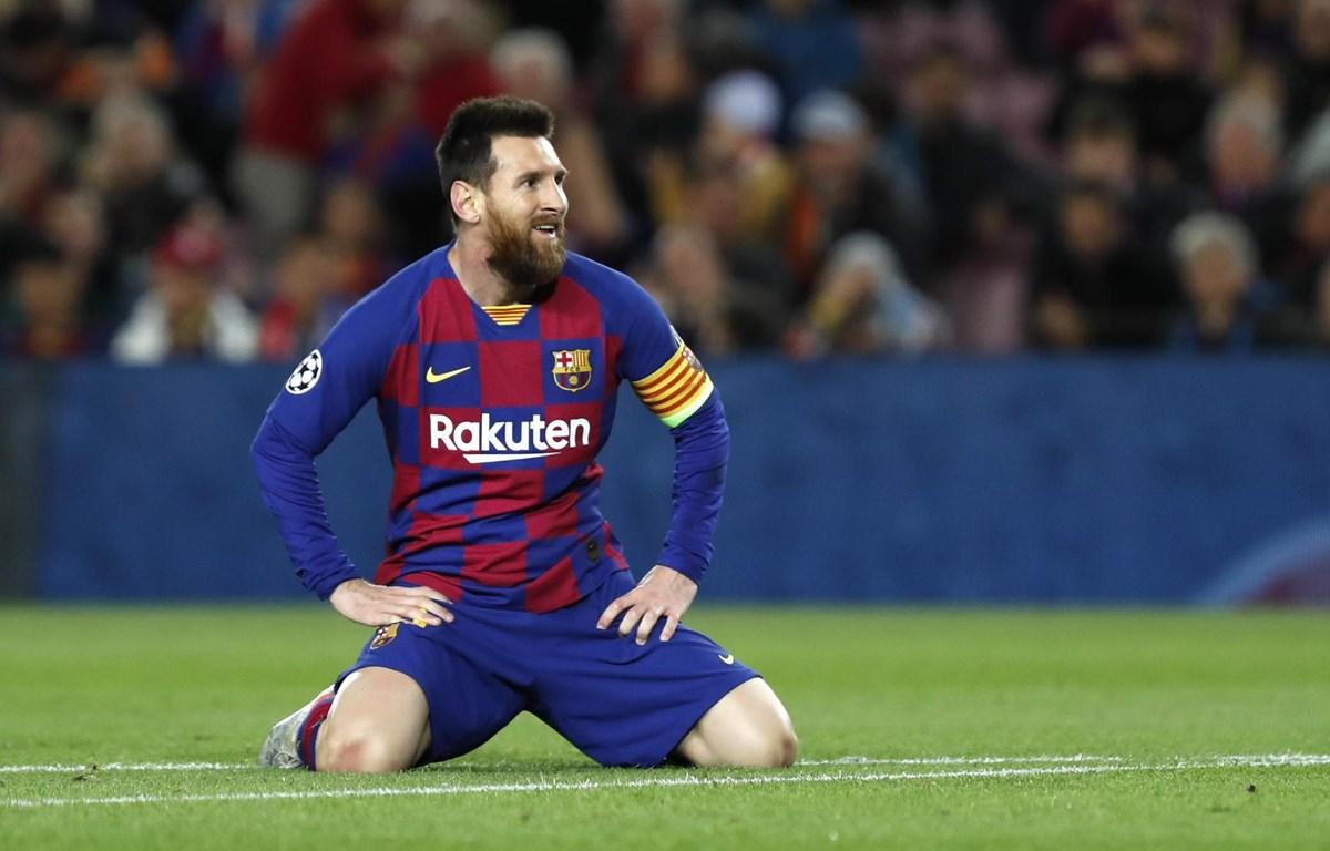 Messi và đồng độii 'bất lực' trước Slavia Prague. (Nguồn: Getty Images)
