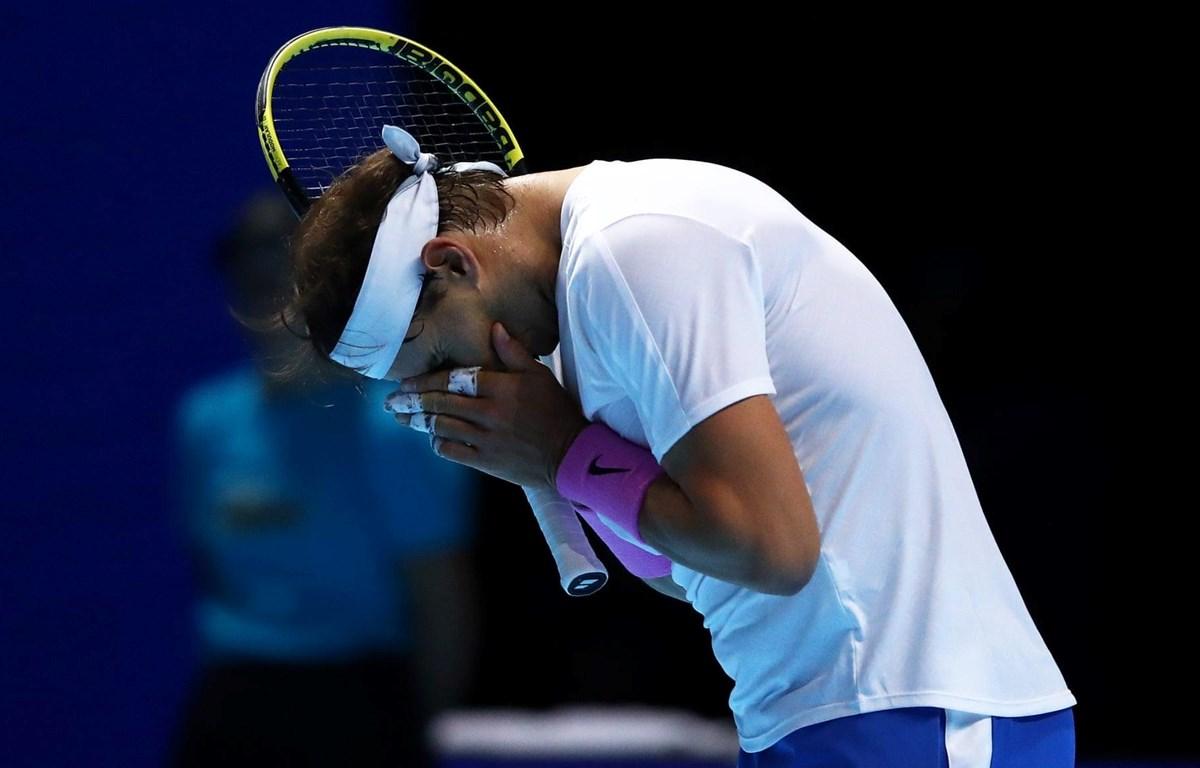 Rafael Nadal thua ngay trận ra quân ATP Finals 2019. (Nguồn: Getty Images)