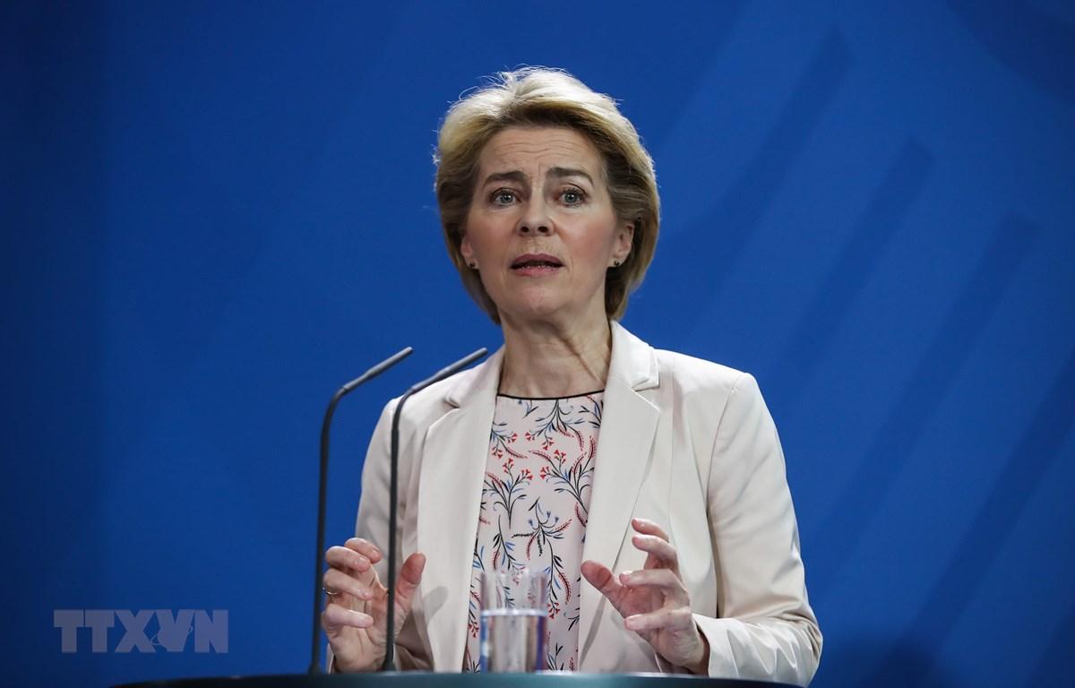 Chủ tịch đắc cử Ủy ban châu Âu (EU) Ursula von der Leyen. (Ảnh: THX/TTXVN)