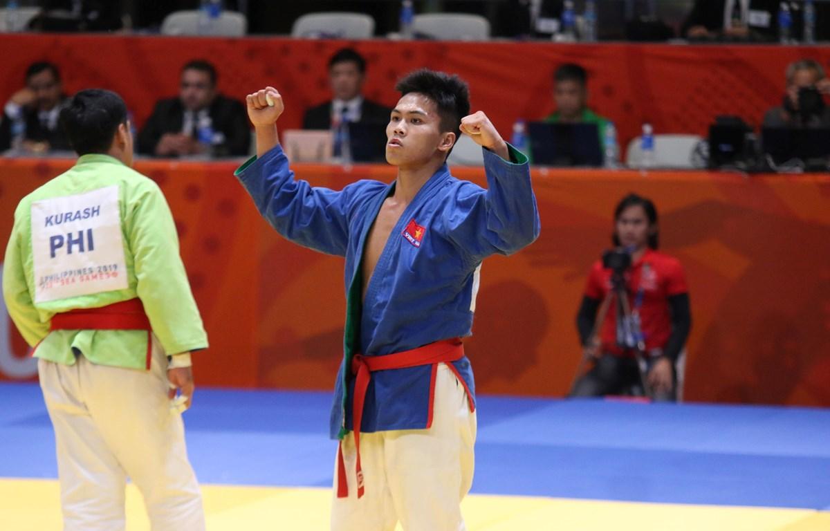 Vũ Ngọc Sơn giành huy chương vàng SEA Games 30 ở môn Kurash. (Ảnh: Vietnam+)