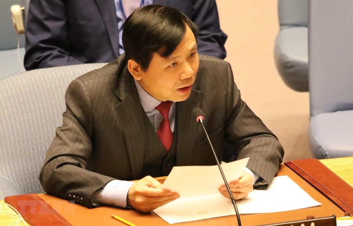 Đại sứ Đặng Đình Quý, Trưởng phái đoàn thường trực của Việt Nam tại Liên hợp quốc. (Ảnh: Hoài Thanh/TTXVN)