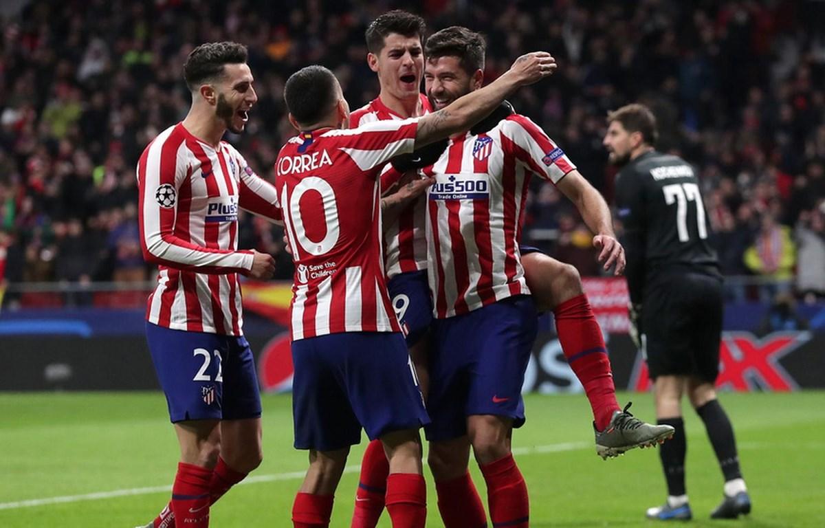 Atletico Madrid giành vé vào vòng 1/8 Champions League. (Nguồn: AFP/Getty Images)