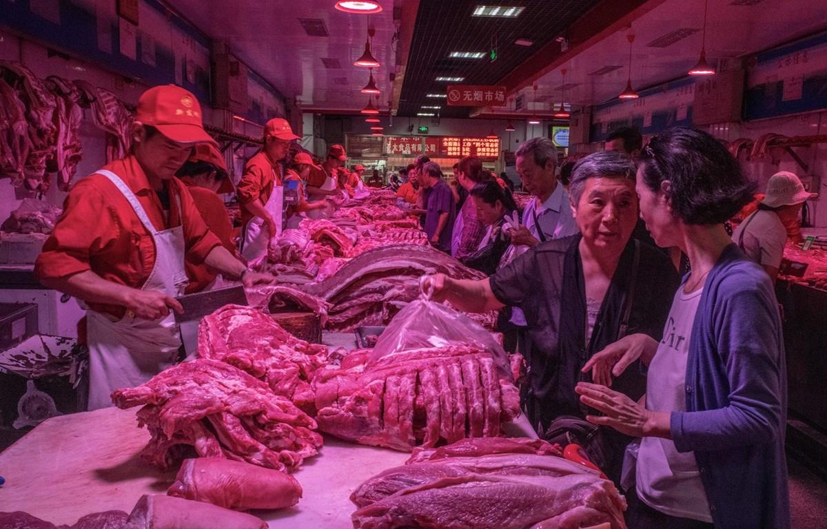 Thịt lợn được bày bán tại Trung Quốc. (Nguồn: nytimes)