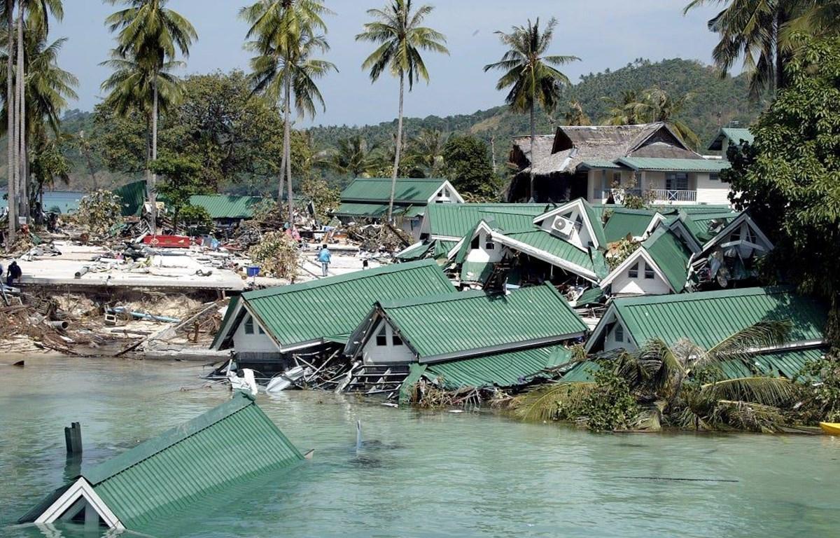 Hình ảnh sau vụ sóng thần năm 2004. (Nguồn: insider)