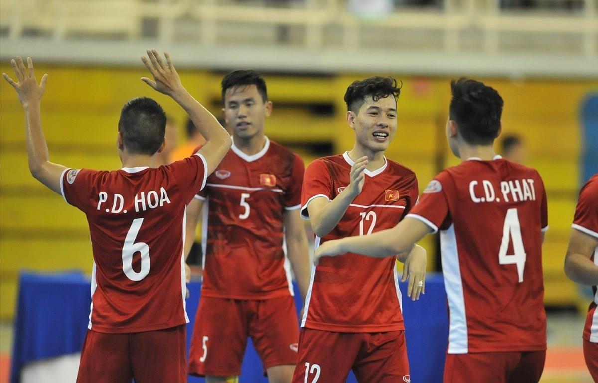 Các cầu thủ futsal Việt Nam.