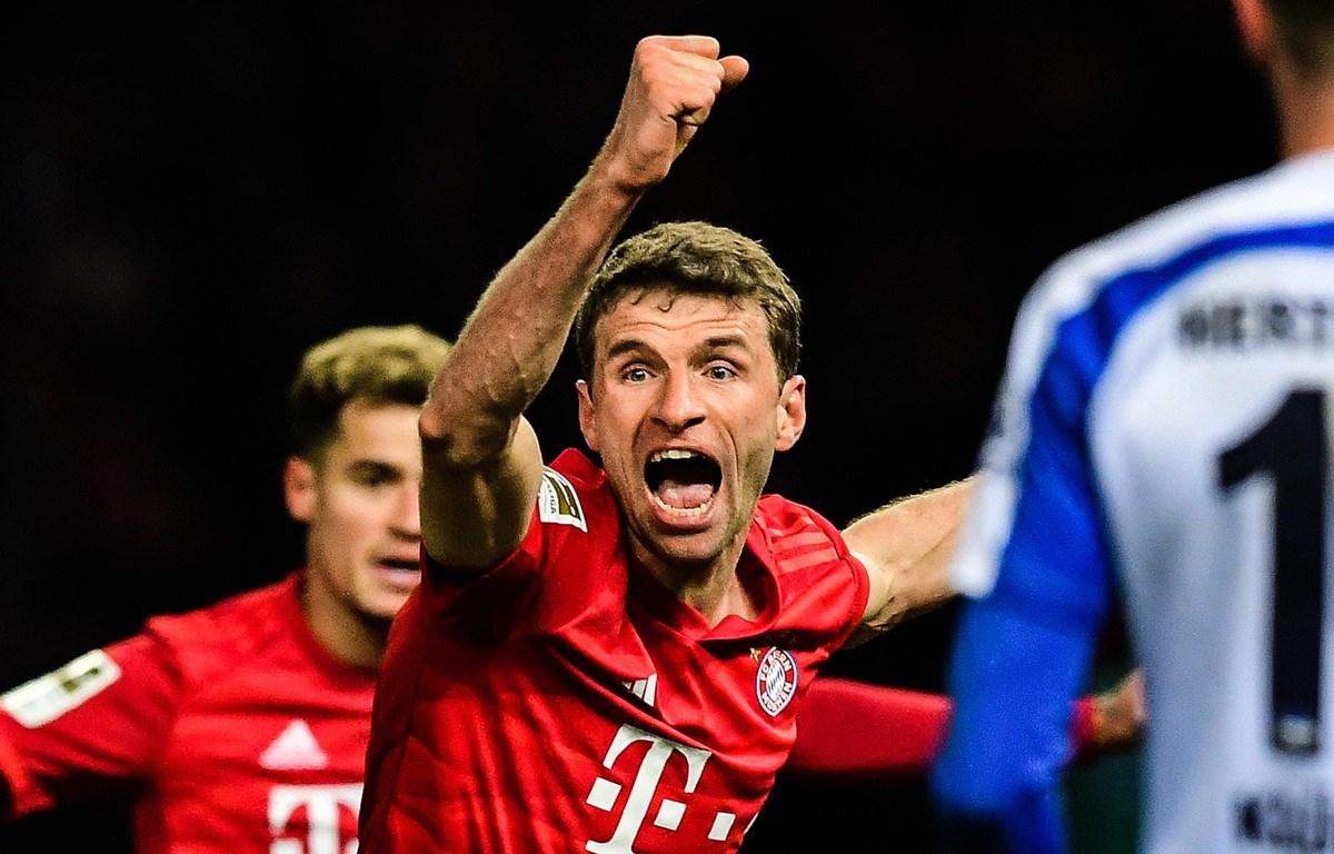 Mueller mở đầu chiến thắng cho Bayern. (Nguồn: Getty Images)