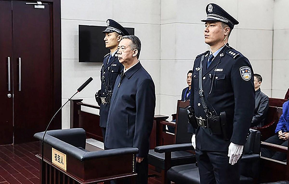 Ông Mạnh Hoành Vĩ tại phiên tòa. (Nguồn: Getty Images)