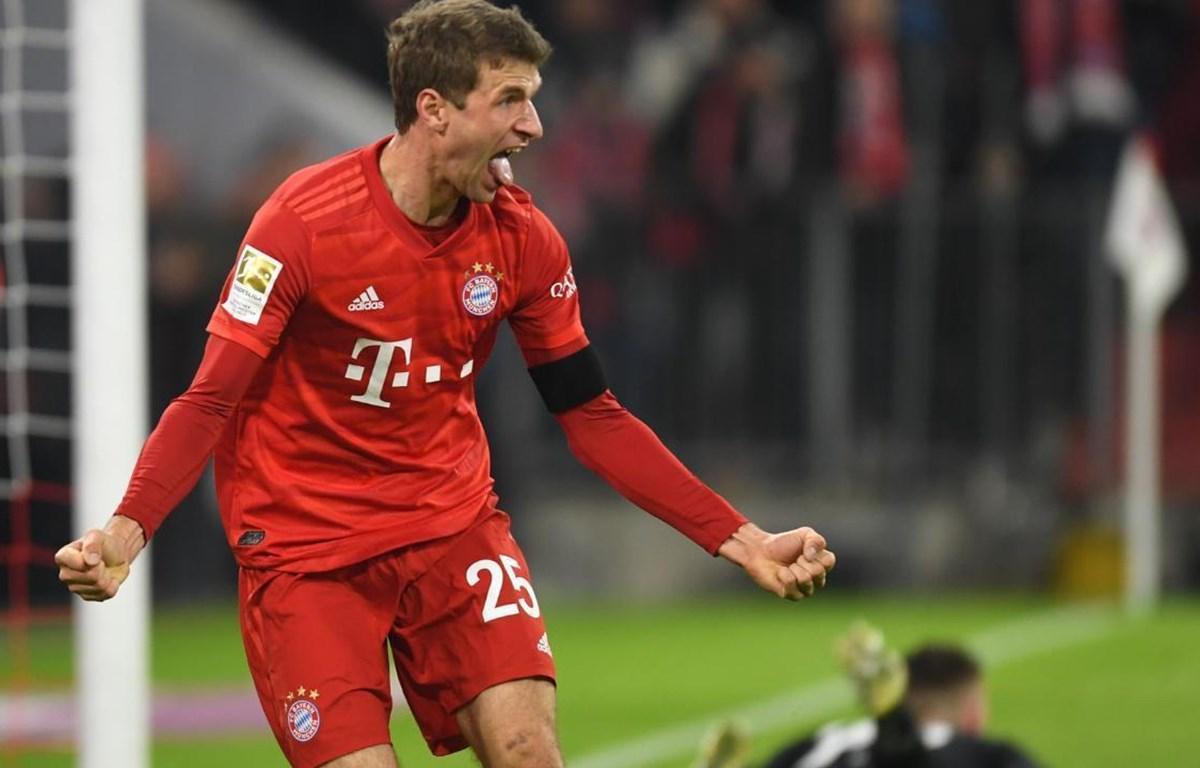 Mueller tiếp tục ghi bàn giúp Bayern chiến thắng. (Nguồn: Ẽn News)