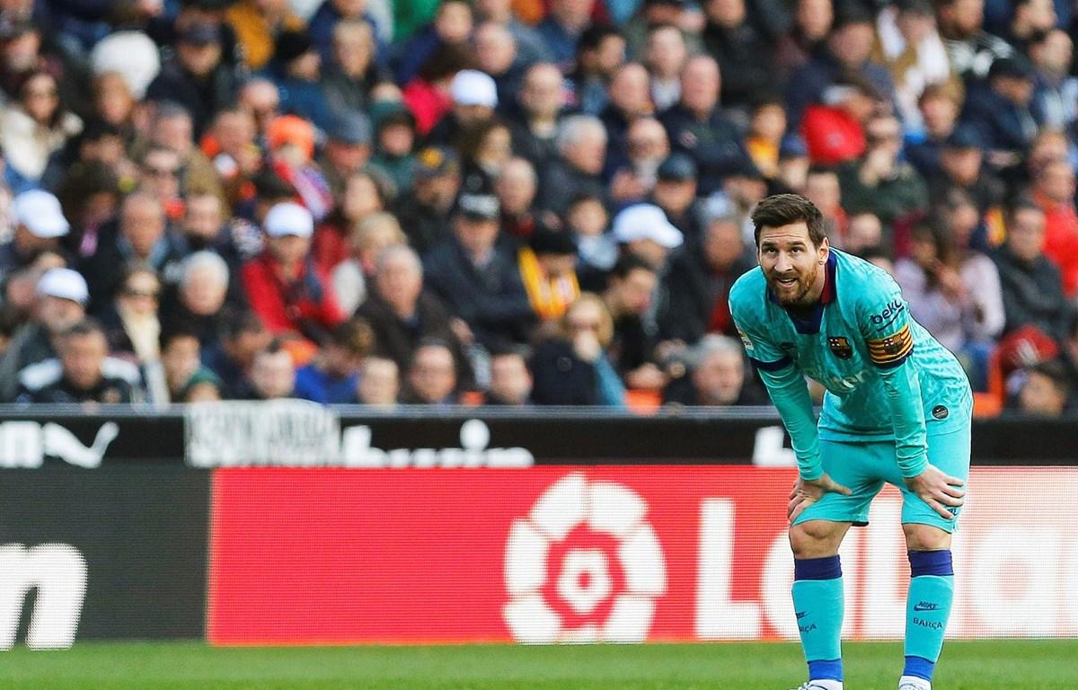 Messi bất ngờ trước Valencia. (Nguồn: Getty Images)