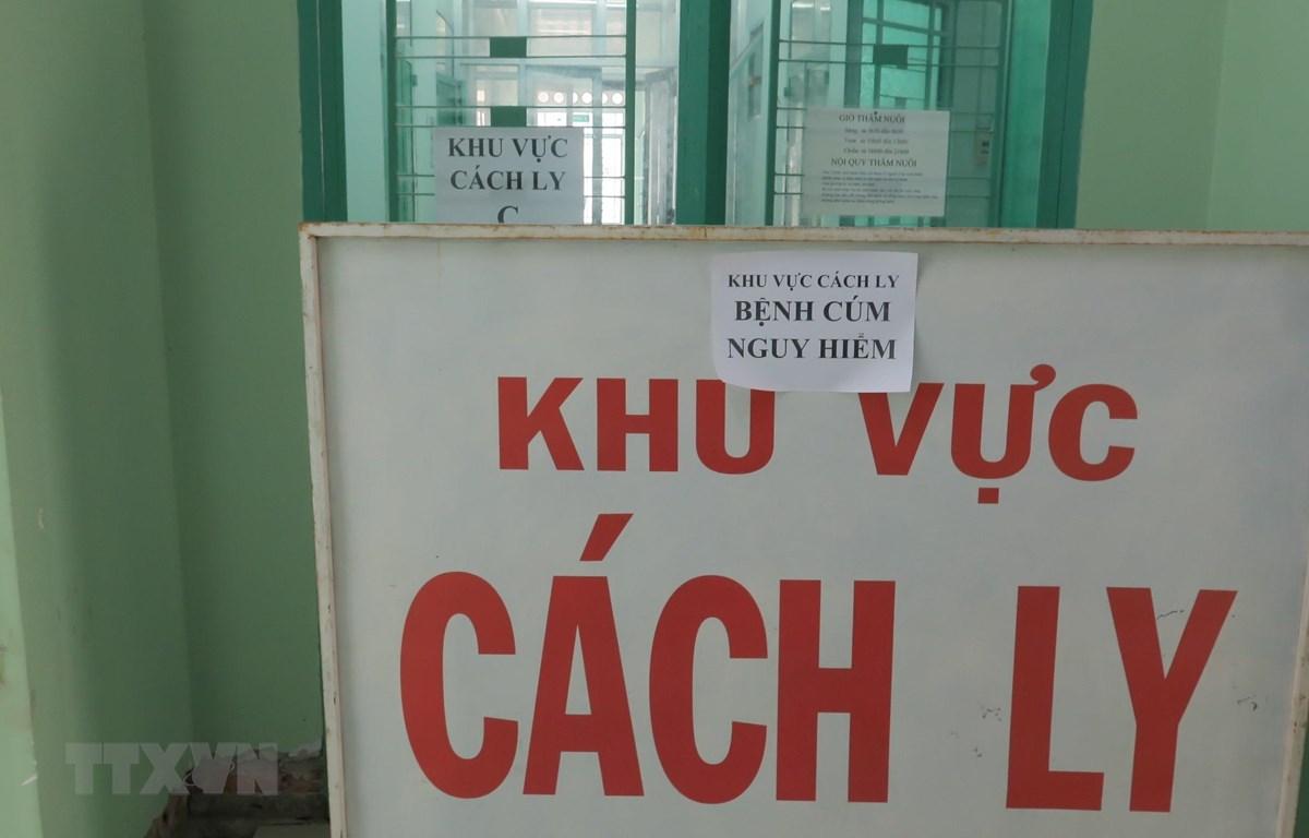 Khu cách ly của Bệnh viện Nhiệt đới Khánh Hòa - nơi đang thực hiện công tác tiếp nhận khám ca bệnh nghi nghi ngờ nhiễm chủng virus corona mới và cách ly chờ kết quả xét nghiệm. (Ảnh: Phan Sáu/TTXVN)