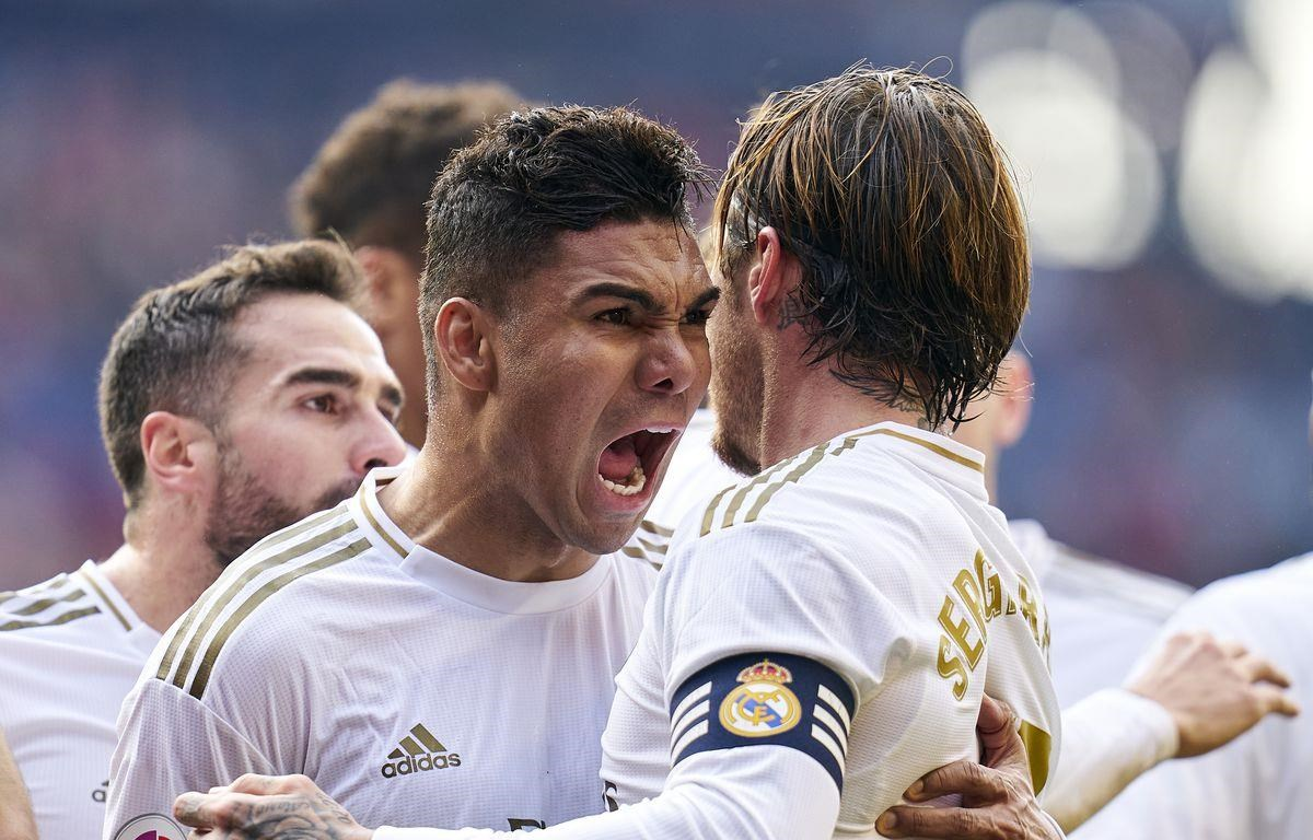 Niềm vui của cầu thủ Real Madrid. (Nguồn: Getty Images)