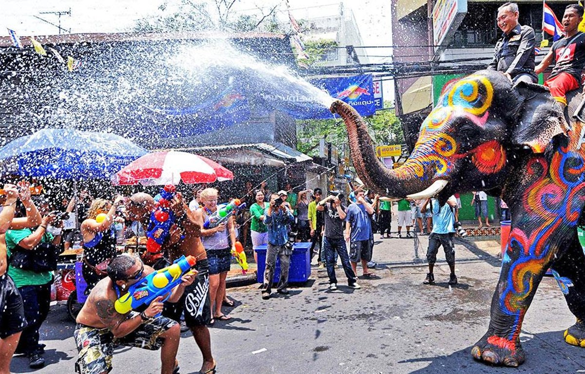 Tết cổ truyền Songkran tại Thái Lan. (Nguồn: livinglocal)