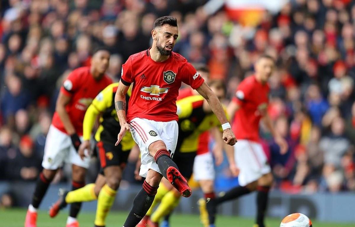 Bruno ghi bàn đầu tiên cho Manchester United.