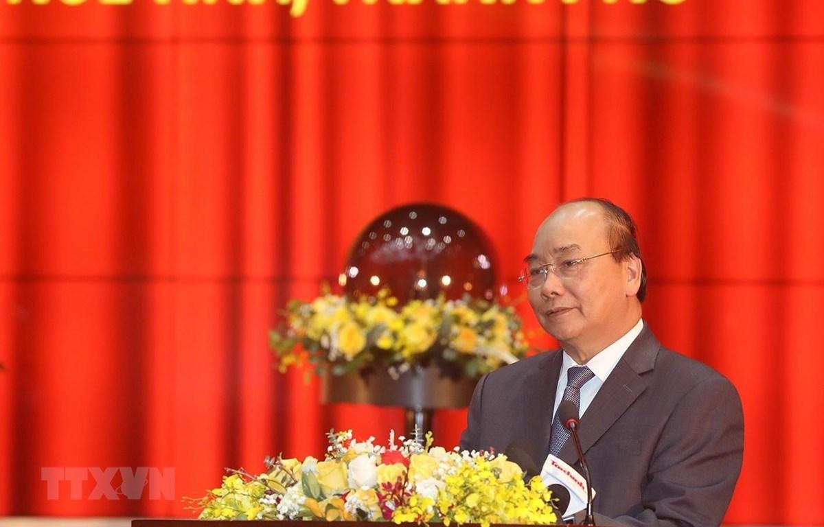 Thủ tướng Nguyễn Xuân Phúc phát biểu. (Ảnh: Phạm Hậu/TTXVN)